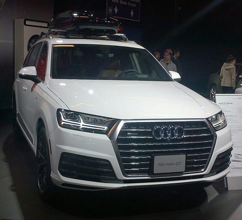 The Q7 is the best SUV you can buy for side impact protection today.
