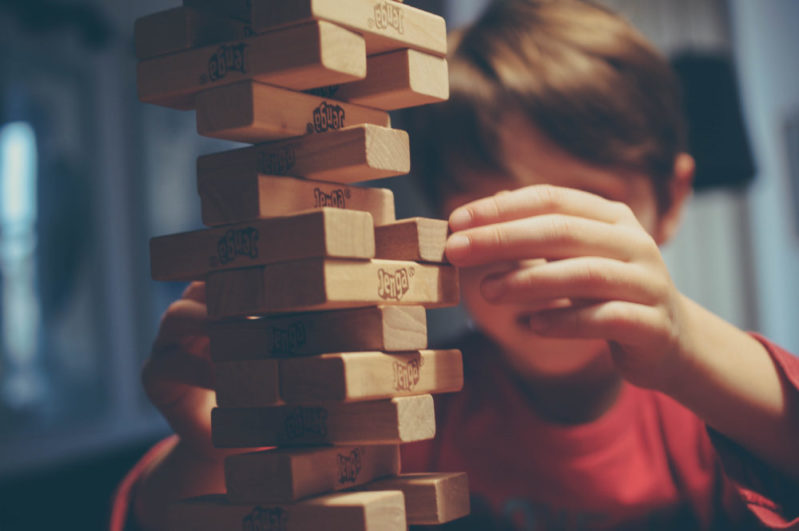 Don't make your child's life a game of Jenga (where every driver on the road gets to pull out a block).