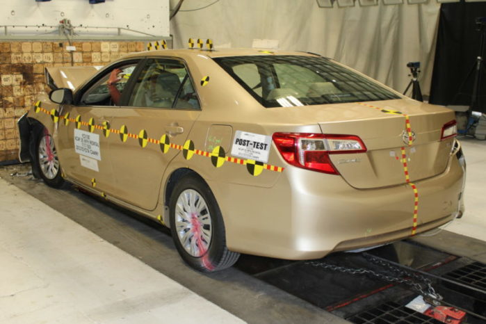 Per the IIHS' 2017 driver death rate math, a Toyota Camry, Honda Accord, and Camry hybrid are equally safe family cars.