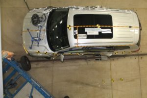 This is the 2018 Atlas after being hit by a deformable barrier in the NHTSA's side impact crash test, but the general principles are the same.