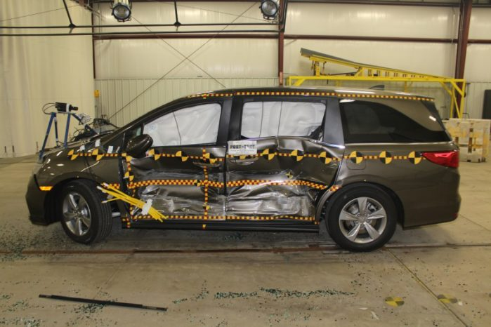 The 2018 Odyssey is the safest minivan ever made (so far) when it comes to side impact crash resistance.
