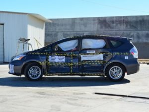 According to the IIHS' 2017 driver death rate calculations, a Toyota Prius V, C, and Original are equally safe vehicles to drive.