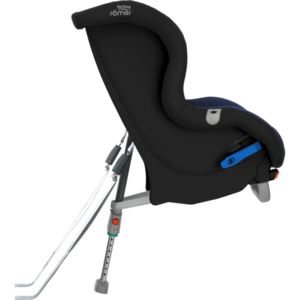 The Max-Way does include a pair of features not typically found in seats sold in the US--a foot prop and a pair of lower rear-facing tethers.